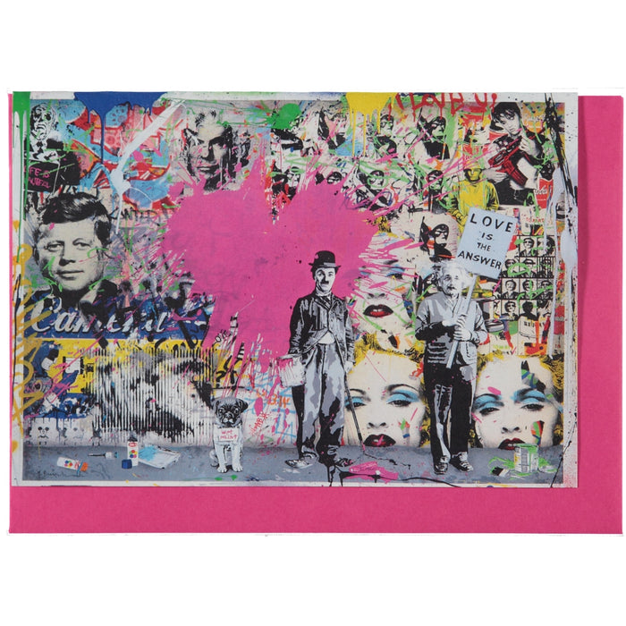 Acme Card Co Mr Brainwash Love Is The Answer Pearl Greeting Card