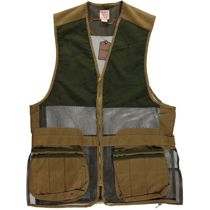 Filson Lightweight Shooting Vest Dark Tan