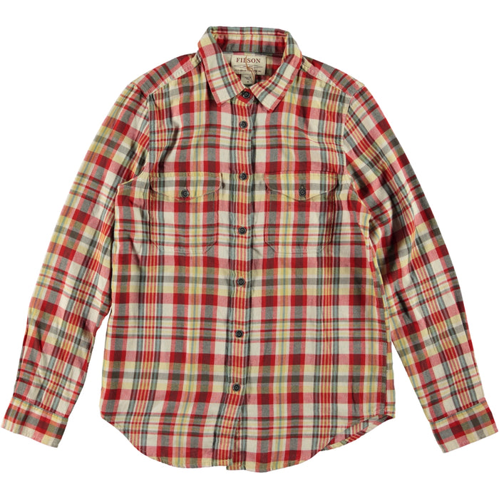 Filson Women's Scout Shirt Red White Gold