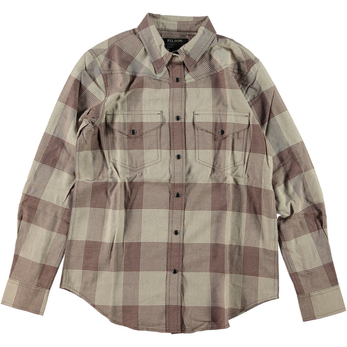 Filson Women's Pioneer Wool Shirt Driftwood Brown