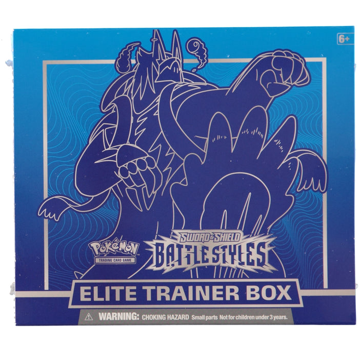 Pokemon TCG Sword & Shield Battle Styles Elite Trainer Box - Blue