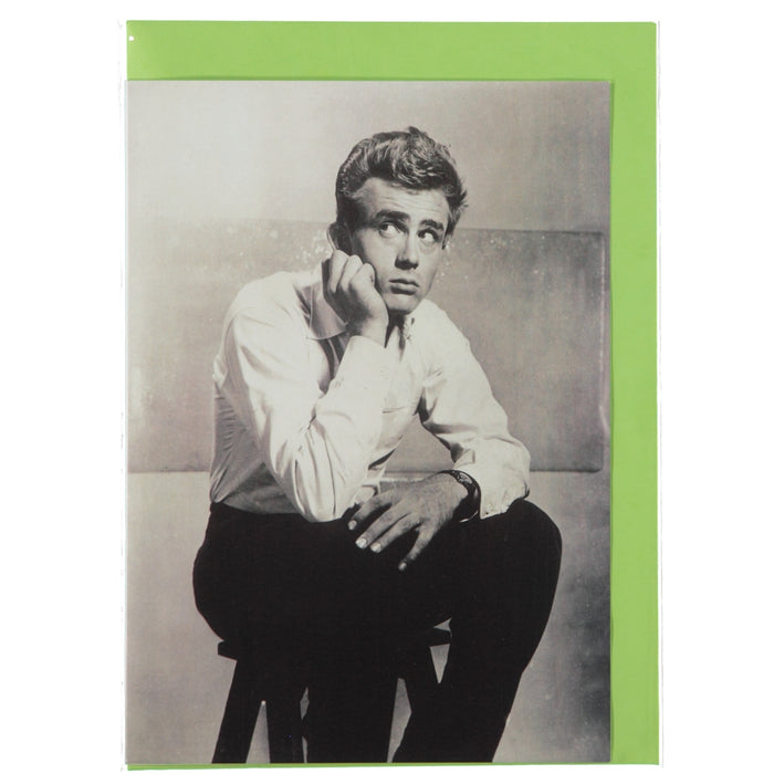 Acme Card Co Vintage James Dean Photo Silk Greeting Card
