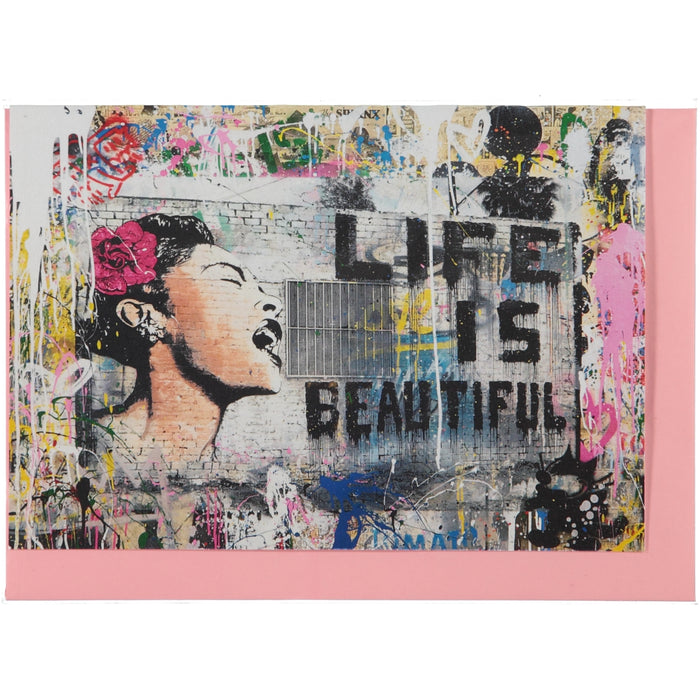 Acme Card Co Mr Brainwash Life Is Beautiful Pearl Greeting Card