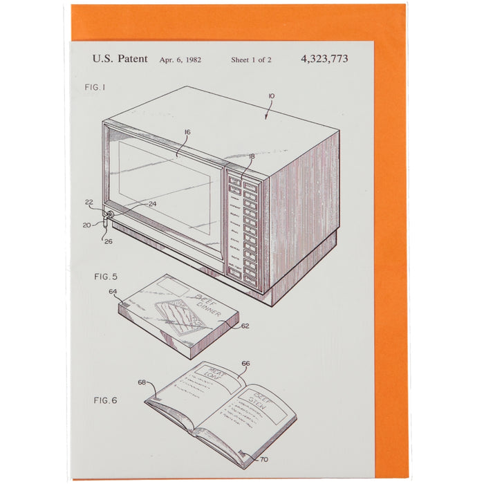 Acme Card Co 1982 Microwave Patent Silk Greeting Card