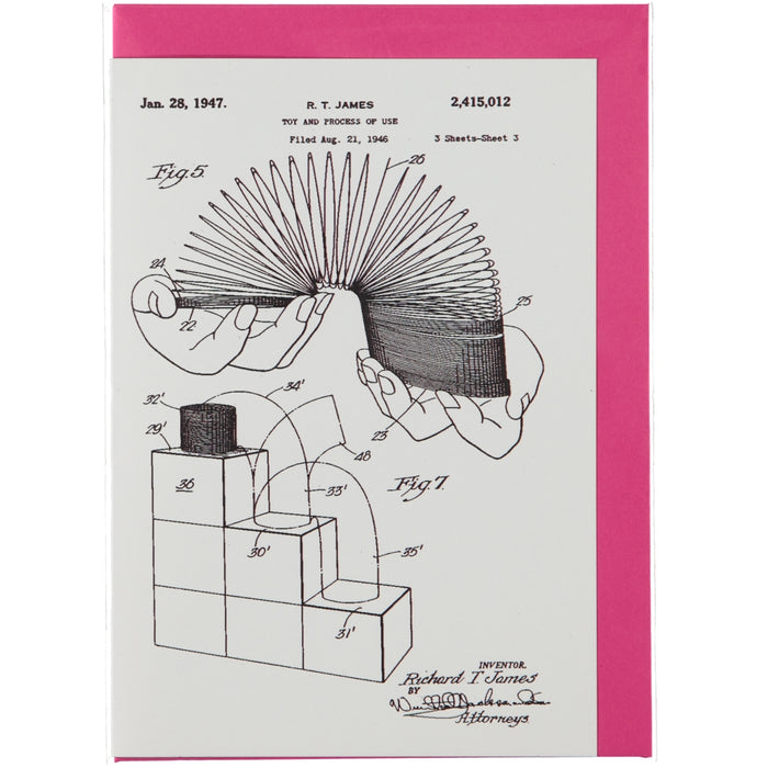 Acme Card Co 1947 Slinky Patent Silk Greeting Card