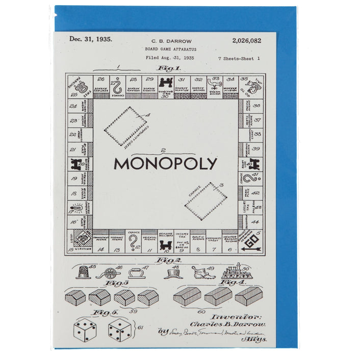 Acme Card Co 1935 Monopoly Patent Silk Greeting Card