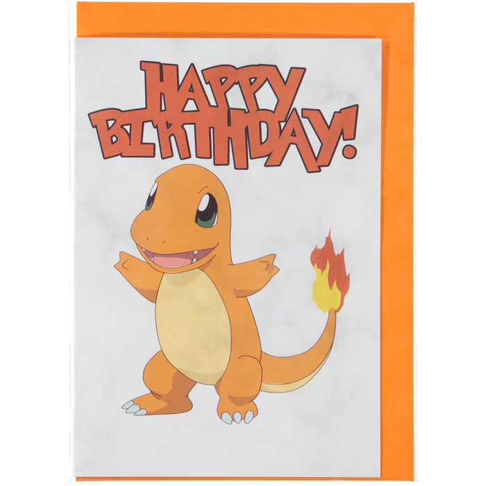 Acme Card Co Pokemon Happy Birthday Marble Greeting Card Charmander