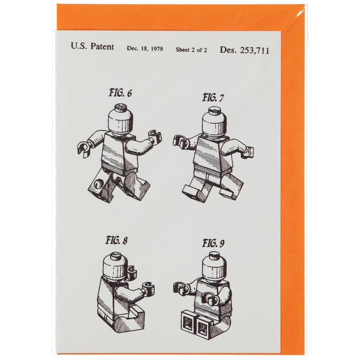 Acme Card Co 1979 Minifig Patent Silk Greeting Card
