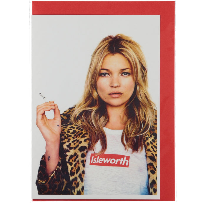 Acme Card Co Isleworth Kate Moss Silk Greeting Card