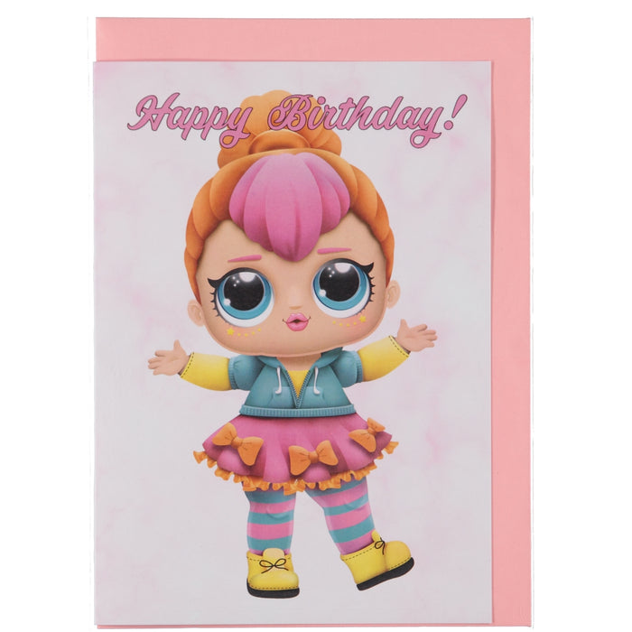 Acme Card Co L.O.L Surprise Happy Birthday Pink Marble Greeting Card 4