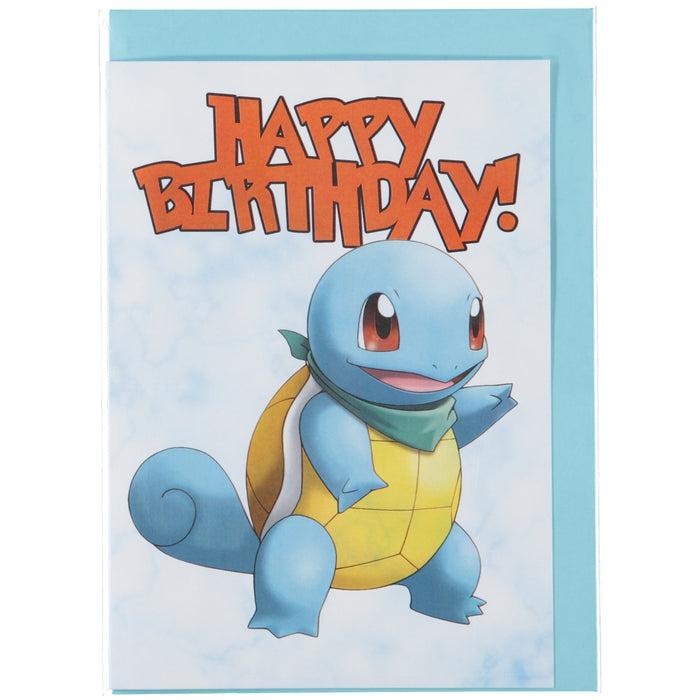 Acme Card Co Pokemon Happy Birthday Marble Greeting Card Squirtle