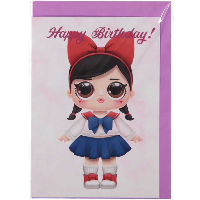 Acme Card Co L.O.L Surprise Happy Birthday Pink Marble Greeting Card 3