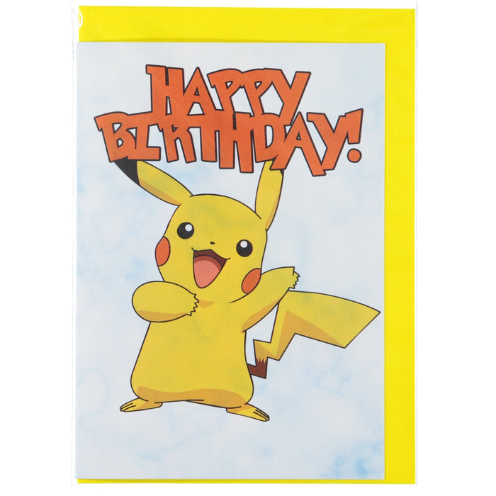 Acme Card Co Pokemon Happy Birthday Marble Greeting Card Pikachu