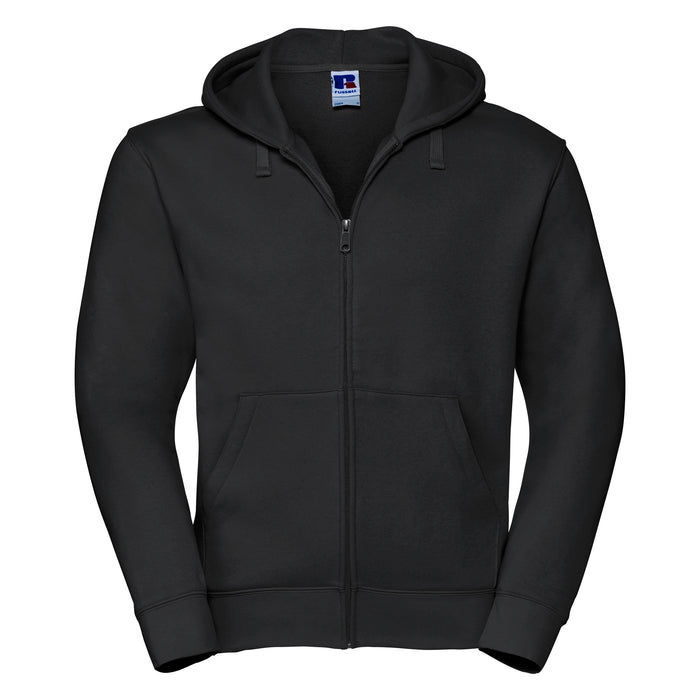Russell Authentic Zip Up Hooded Sweatshirt Black