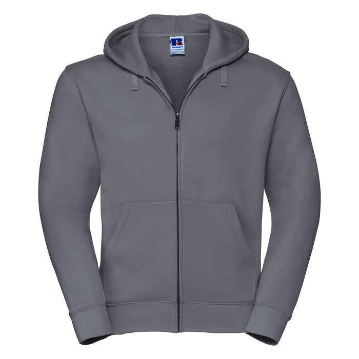 Russell Authentic Zip Up Hooded Sweatshirt Charcoal Grey