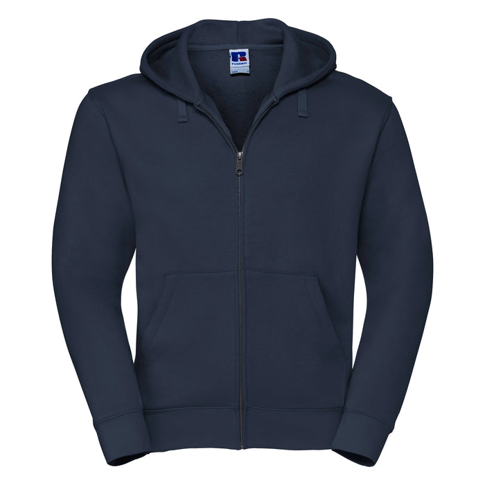 Russell Authentic Zip Up Hooded Sweatshirt Navy