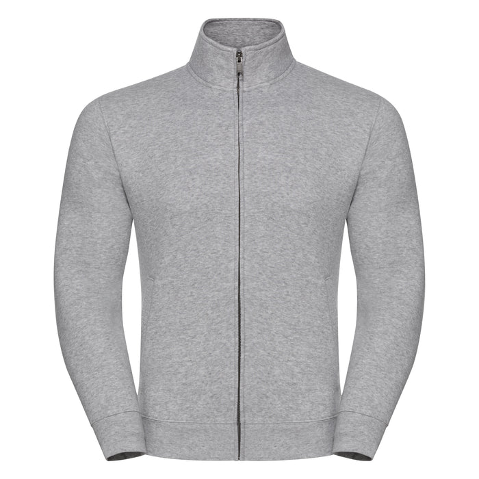 Russell Authentic Sweatshirt Jacket Oxford Grey