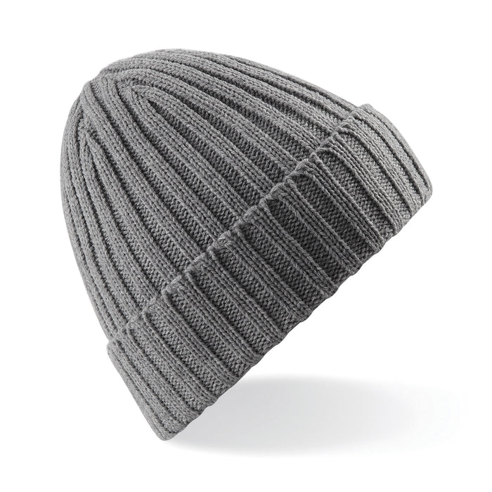 Stylecreep Basics Ribbed Beanie Heather Grey