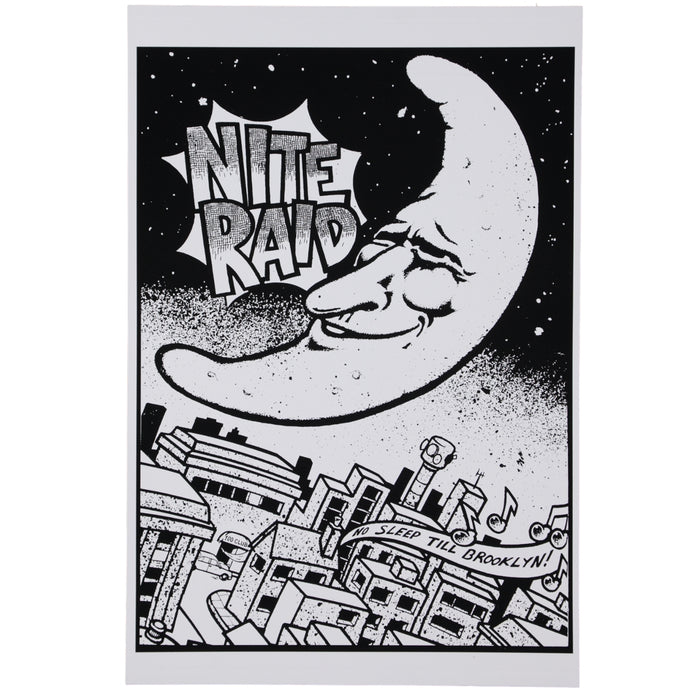 Stylecreep x The Raid Club Nite Raid Flyer Art Giclee Art Print Poster 18x12 Inch