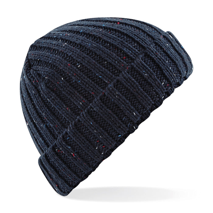 Stylecreep Basics Knit Ribbed Fleck Beanie Navy
