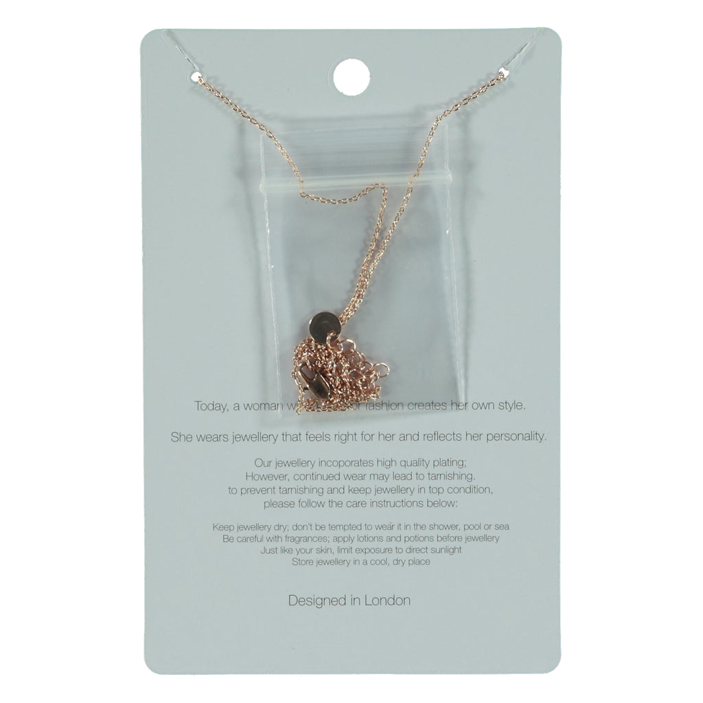 Big Metal London Kelly Caged Short Necklack Rose Gold