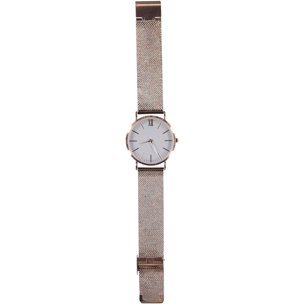 38mm Dia Face Rose Gold 20mm Steel Strap Watch