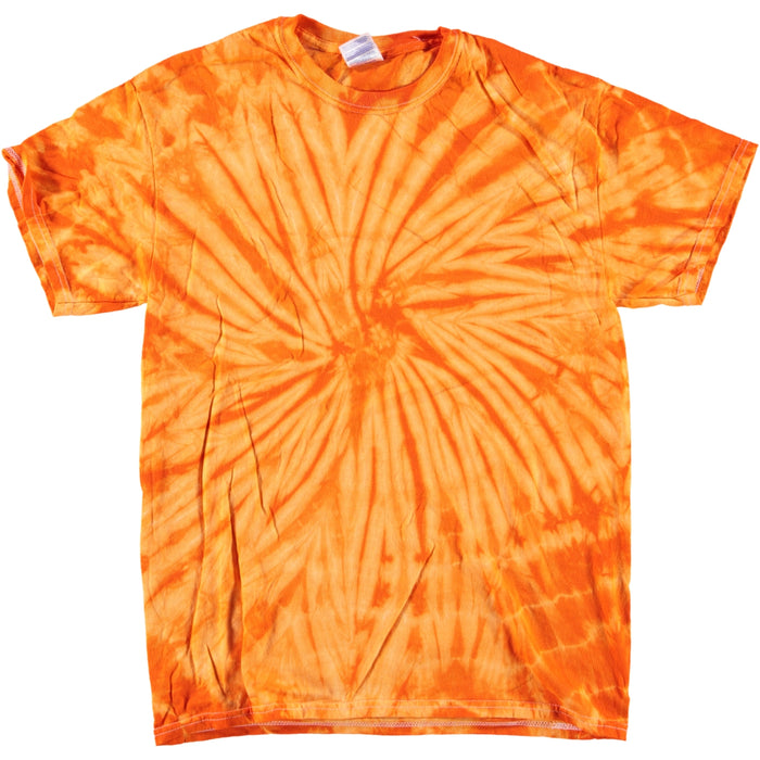 Colortone Spiral Tie Dye T Shirt Orange