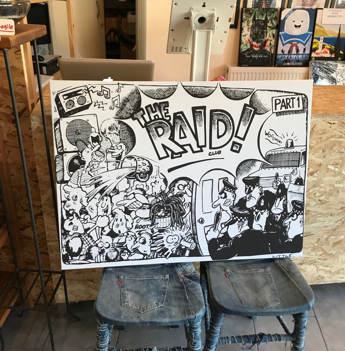 Stylecreep x The Raid Club Part 1 Flyer Art Large Exhibition Canvas