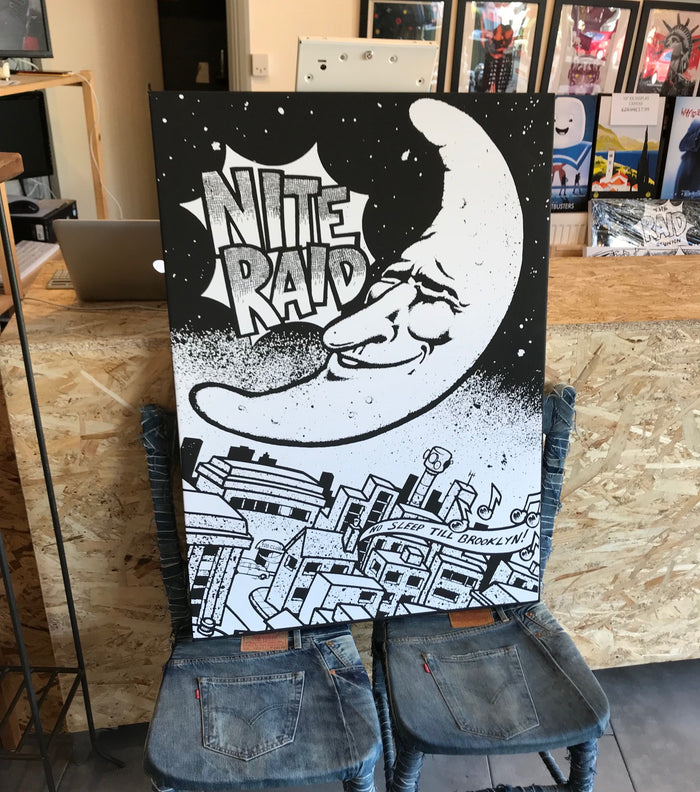 Stylecreep x The Raid Club Nite Raid Flyer Art Large Exhibition Canvas