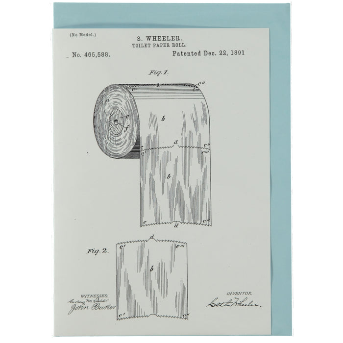 Acme Card Co 1891 Toilet Roll Patent Silk Greeting Card