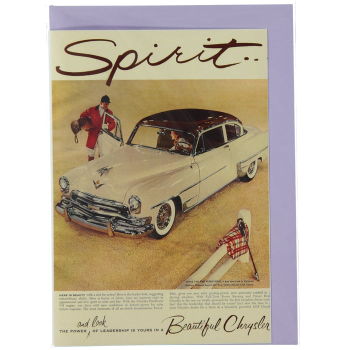 Acme Card Co Vintage Chrysler Spirit Ad Silk Greeting Card