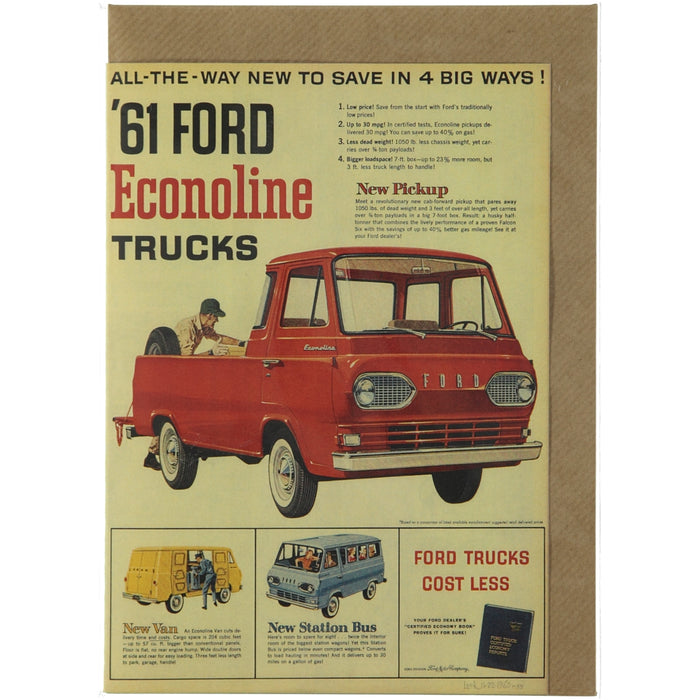 Acme Card Co Vintage Ford Econoline Ad Silk Greeting Card