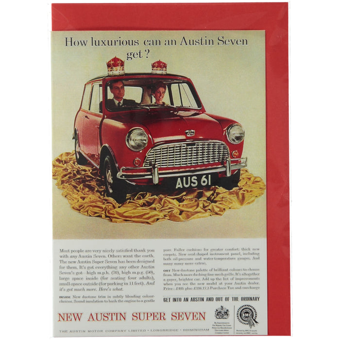 Acme Card Co Vintage Austin Seven Ad Silk Greeting Card