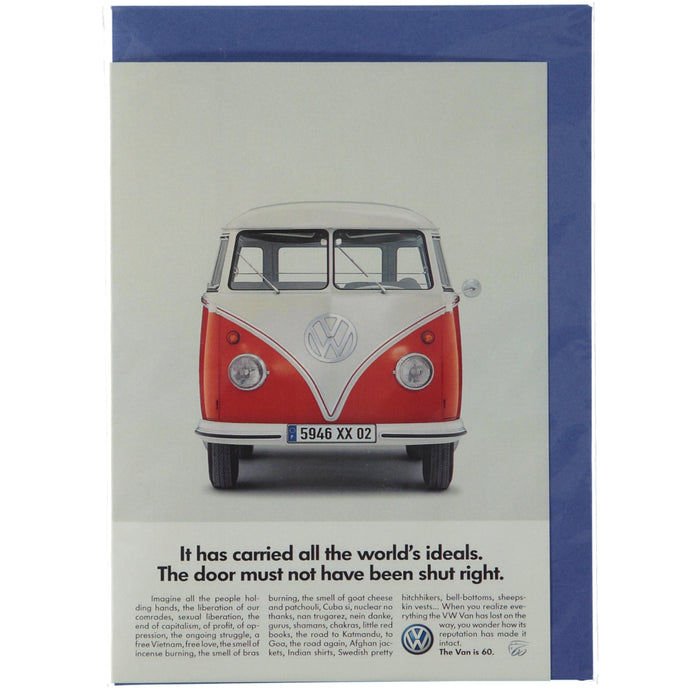 Acme Card Co Vintage VW Camper Ad Silk Greeting Card