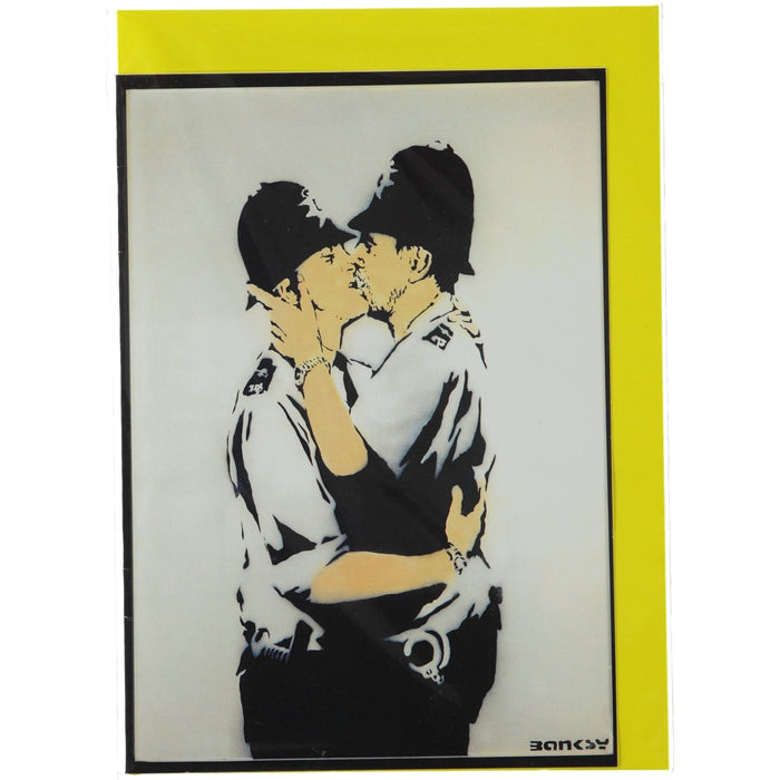 Acme Card Co Vintage Banksy Police Silk Greeting Card