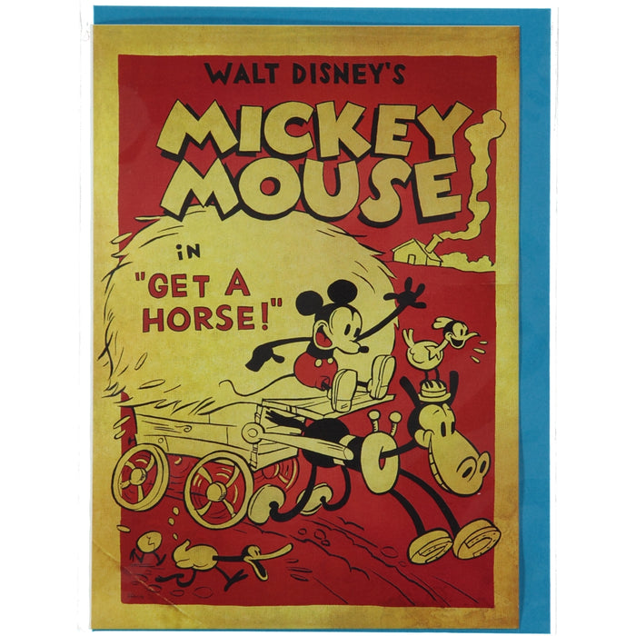 Acme Card Co Vintage Mickey Mouse get A Horse Silk Greeting Card