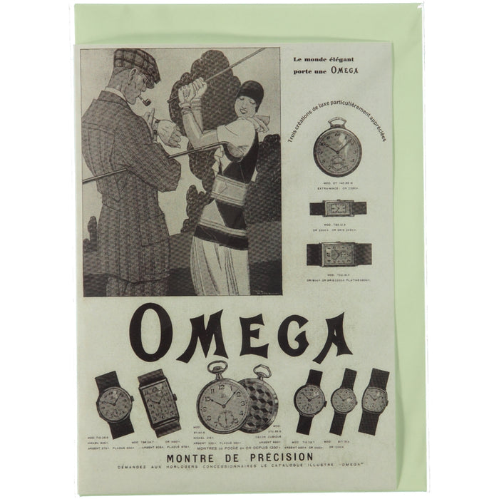Acme Card Co Vintage Omega Ad Silk Greeting Card