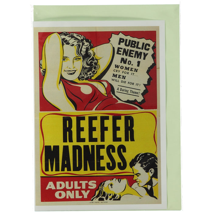 Acme Card Co Reefer Madness Silk Greeting Card