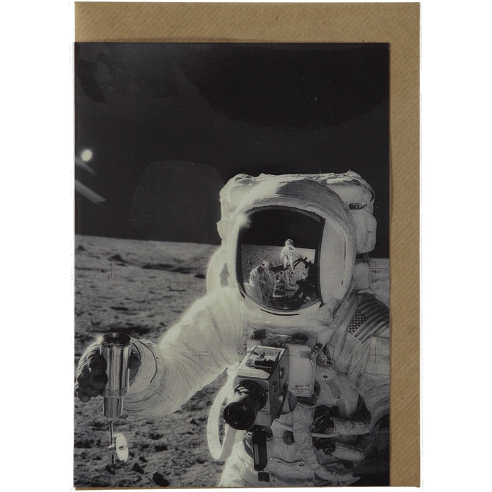 Acme Card Co Moon Landing Silk Greeting Card
