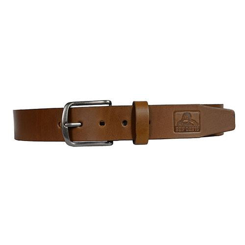 Ben Davis Embossed Leather Belt Honey Brown