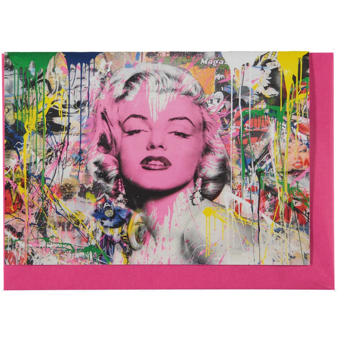 Acme Card Co Mr Brainwash Marilyn Monroe Pearl Greeting Card