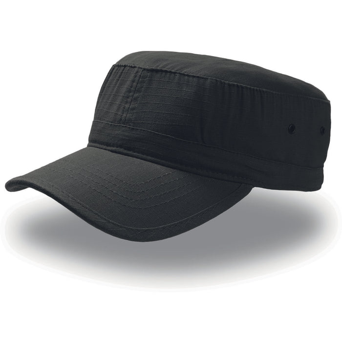 Atlantis Army Military Cap Ripstop Cotton Black