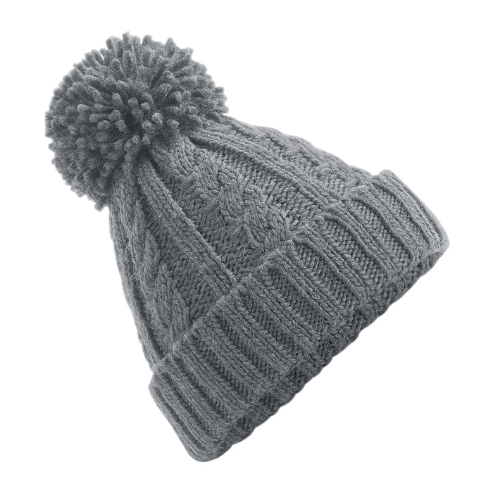 Beechfield Cable Melange Beanie Light Grey