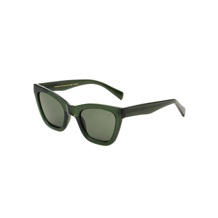 A Kjaerbede Sunglasses Big Kanye Dark Green Transparent