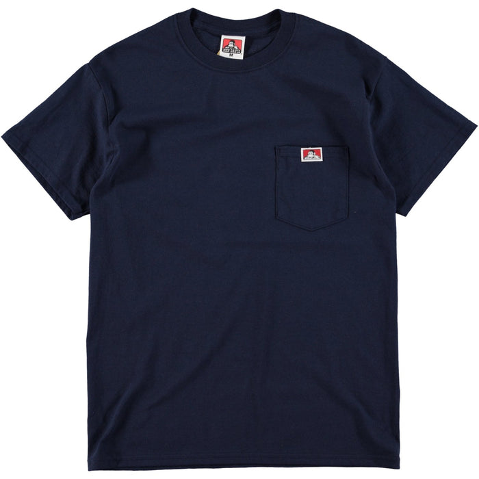 Ben Davis Patch Logo Pocket Tee Navy
