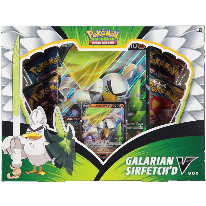 Pokemon TCG Galarian Sirfetch'd V Collection Box