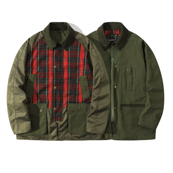 Club Stubborn Reversible Royal Hunting Coat Olive Green