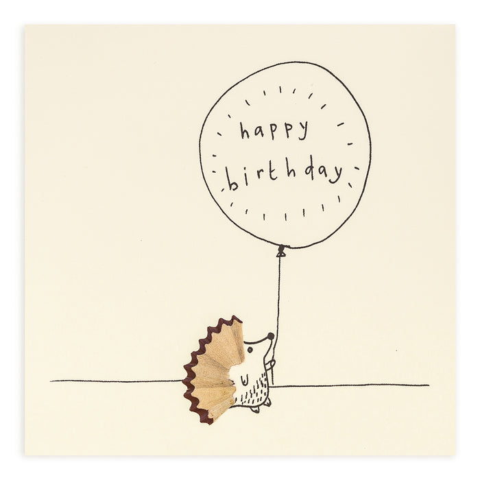 Ruth Jackson Pencil Shavings Greetings Card Birthday Hedgehog