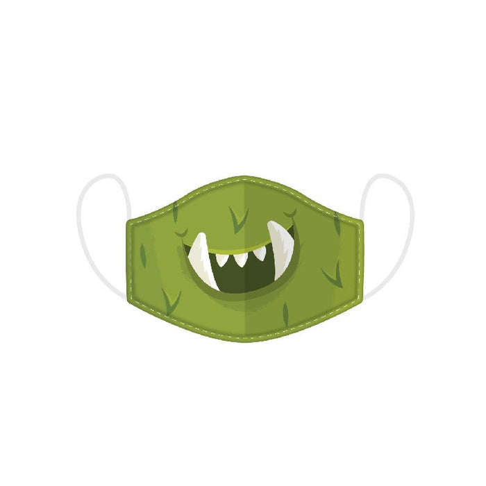 Monstars Green Monster Reusable Face Covering - Kids
