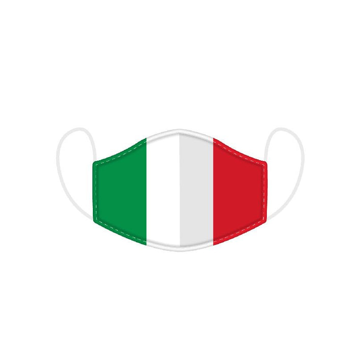 Italian Flag Reusable Face Covering - Adults